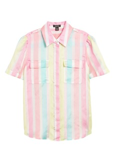 Halogen® x Atlantic-Pacific Stripe Utility Shirt