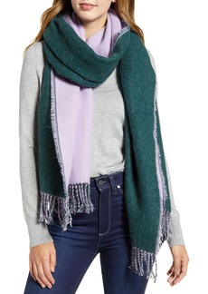 Halogen® x Atlantic-Pacific Two-Tone Fringe Scarf