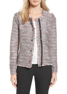 Halogen Zip Detail Tweed Jacket (Regular & Petite)