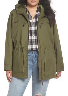 Halogen® Zip Front Field Jacket (Plus Size)