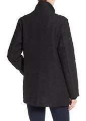 Halogen Zip Front Stand Collar Coat (Regular & Petite)