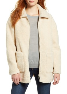 Halogen® Zip Front Teddy Coat