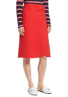 Halogen(R) Belted Skirt (Regular & Petite)