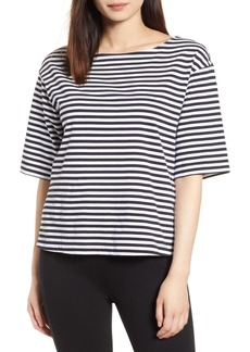 Halogen(R) Boat Neck Cotton Top (Regular & Petite)