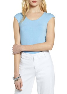 Halogen(R) Cap Sleeve Tee (Regular & Petite)