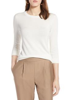 Halogen(R) Cotton Blend Pullover (Regular & Petite)