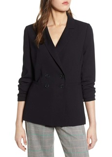 Halogen(R) Double Breasted Blazer (Regular & Petite)