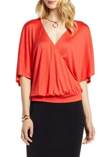 Halogen(R) Faux Wrap Top (Regular & Petite)
