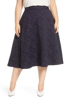 Halogen(R) Jacquard Circle Skirt (Plus Size)