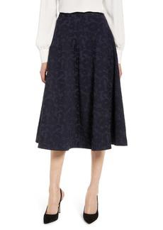 Halogen(R) Jacquard Circle Skirt (Regular & Petite)