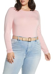 Halogen(R) Long Sleeve Stretch Tee (Plus Size)