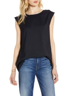 Halogen(R) Open Back Woven Top