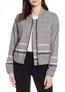 Halogen  Plaid Bomber Jacket