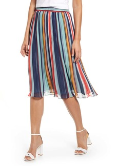 Halogen(R) Pleated Chiffon Skirt (Regular & Petite)