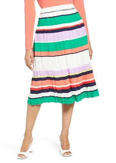 Halogen(R) Pleated Midi Skirt (Regular & Petite)