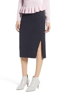 Halogen(R) Shimmer Sweater Skirt (Regular & Petite)
