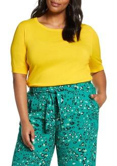 Halogen(R) Stripe Sweater (Plus Size)