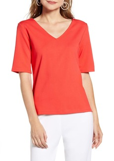 Halogen(R) Structured Knit Top (Regular & Plus Size)