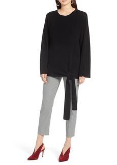 Halogen  Tie Front Pullover Sweater