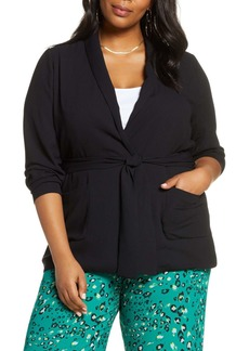 Halogen(R) Tie Waist Jacket (Regular & Plus Size)