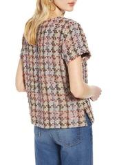 Halogen(R) Tweed Short Sleeve Top