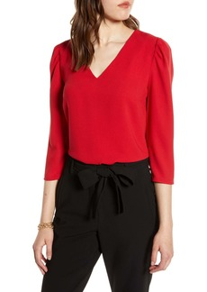 Halogen(R) V-Neck Blouse