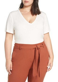 Halogen(R) V-Neck Tunic Tee (Plus Size)