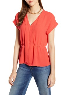 Halogen  Waist Detail Top (Regular, Petite & Plus Size)