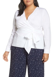 Halogen(R) Wrap Top (Plus Size)