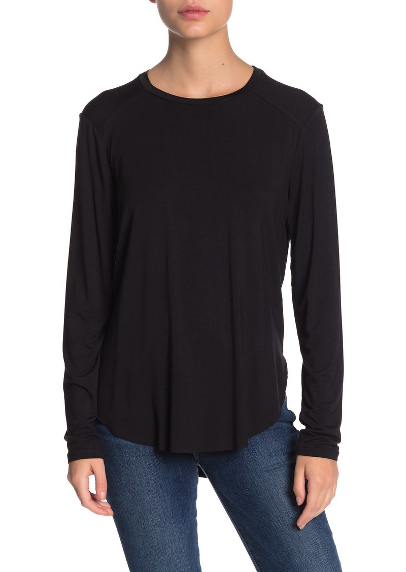 Halogen Long Sleeve Curved Hem T-Shirt (Regular & Petite)