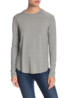 Halogen Long Sleeve Shirttail Hem