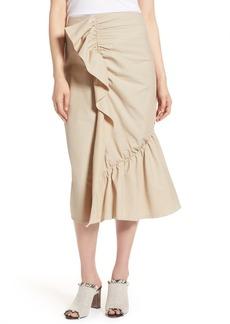Halogen Ruffle Front Skirt