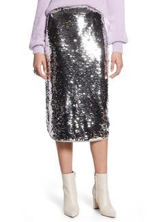 Halogen Sequin Skirt