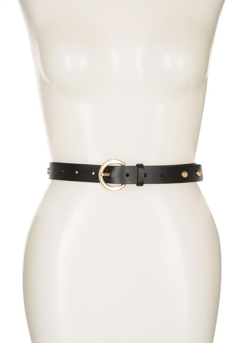 Halogen Skinny Stud Leather Belt