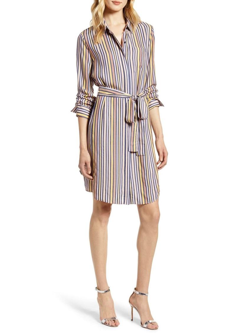 Halogen Stripe Shirtdress
