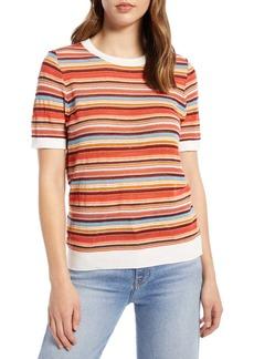 Halogen Stripe Sweater (Plus Size)