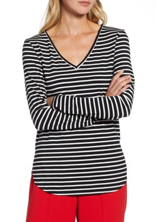 Halogen(R) V-Neck Tunic (Regular & Petite)