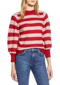 Halogen X Atlantic-Pacific Blouson Sleeve Sweater