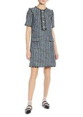 Halogen(R) x Atlantic-Pacific Fringe Tweed Dress