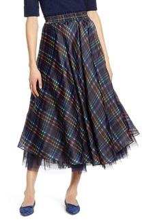 Halogen X Atlantic-Pacific Full Organza Midi Skirt