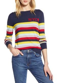 Halogen X Atlantic-Pacific Stripe NYC Sweater