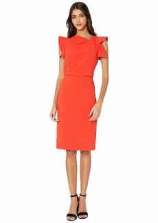 Halston Asymmetric Neck Dress