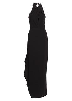Halston Crepe Halterneck Gown