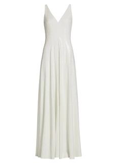 Halston Elaine Micro Sequin Gown