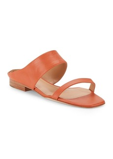Halston Heritage Leather Open-Toe Sandals