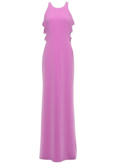 Halston Heritage Woman Stretch-crepe Gown Lavender