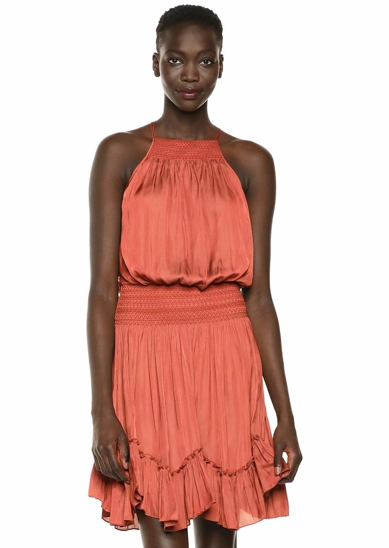 HALSTON Women's Sleeveless Cami Dress w/Stitch Detail  M