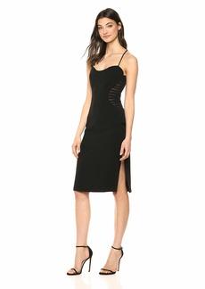 HALSTON Women's Sleeveless Cape Dress