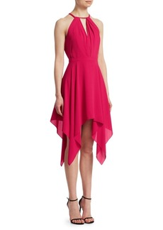 Halston Heritage Beaded Halter Dress