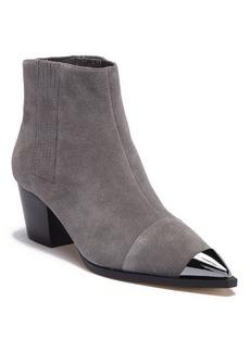 Halston Heritage Blythe Suede Metallic Toe Chelsea Boot